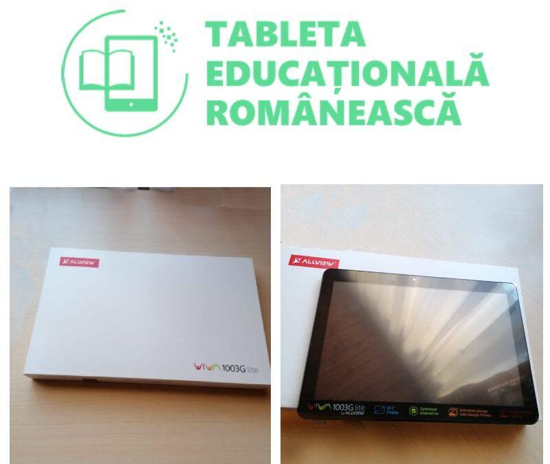 TABLETA EDUCAȚTIONALĂ ROMÂNEASCĂ SI LA VĂLIUG!