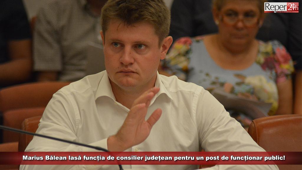 Marius Bălean lasă funcția de consilier județean pentru un post de funcționar public!